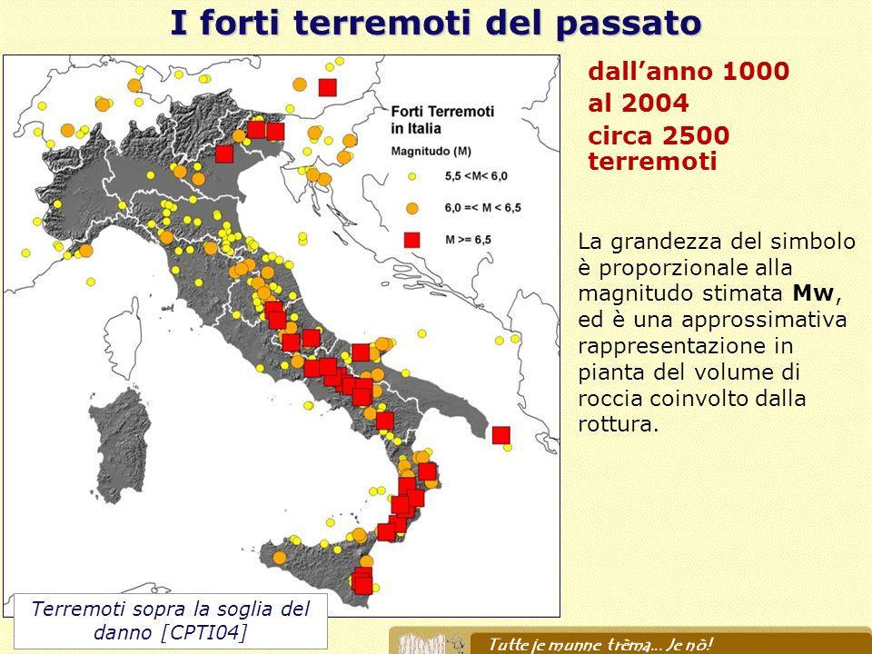 I forti terremoti del passato