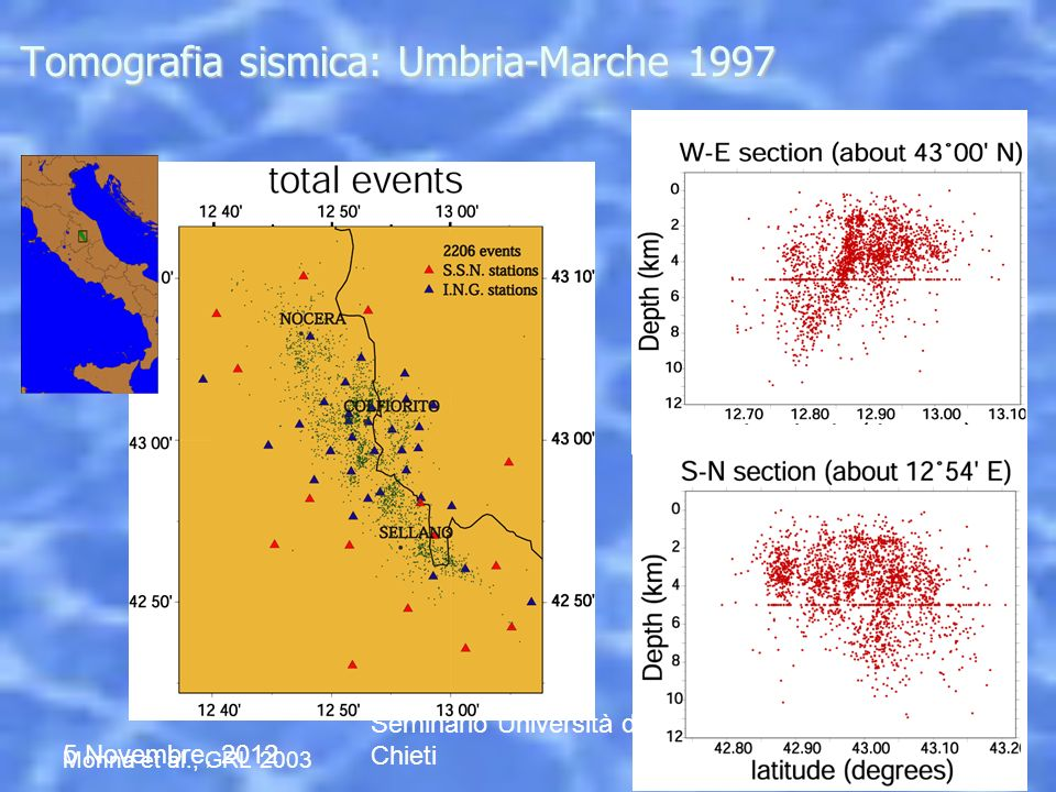 Tomografia sismica: Umbria-Marche 1997