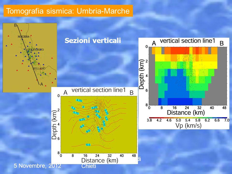 Tomografia sismica: Umbria-Marche