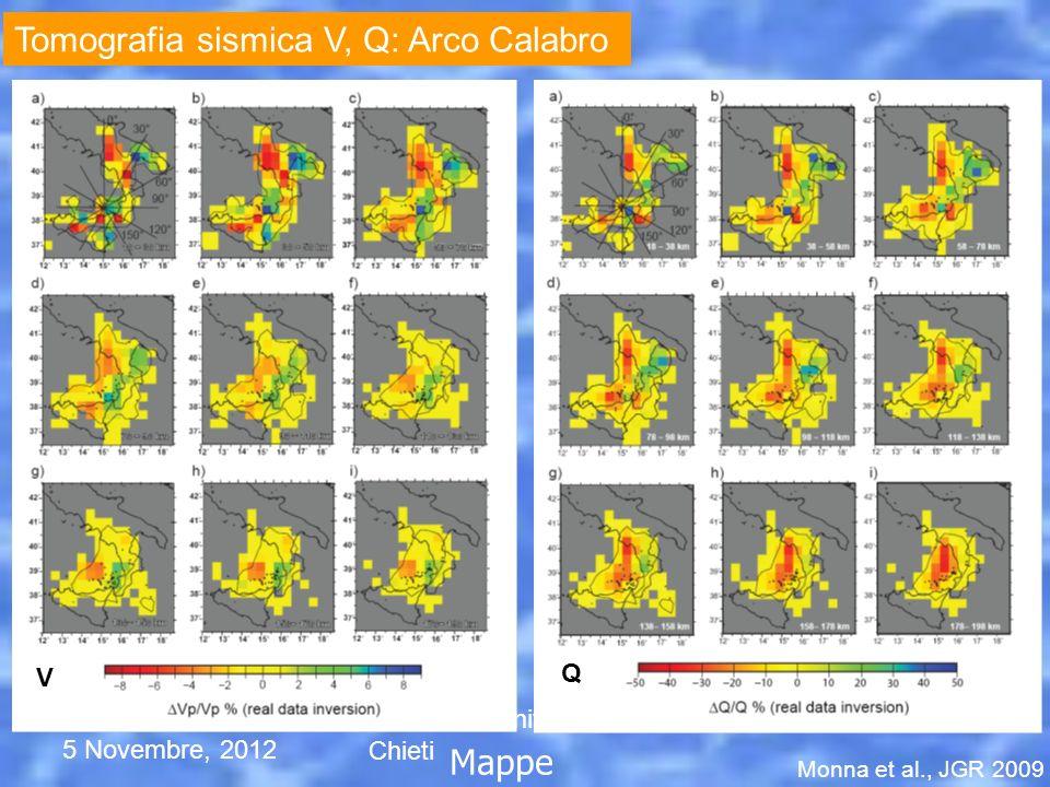 Tomografia sismica V, Q: Arco Calabro