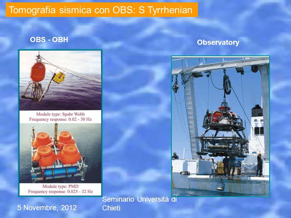 Tomografia sismica con OBS: S Tyrrhenian