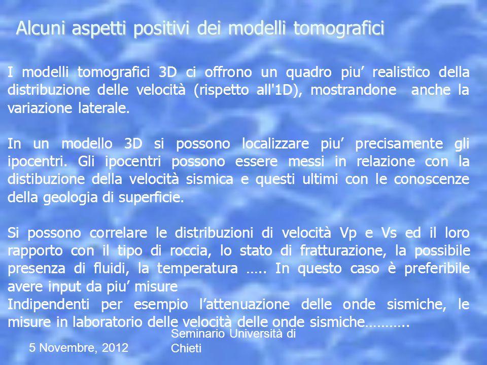 Alcuni aspetti positivi dei modelli tomografici