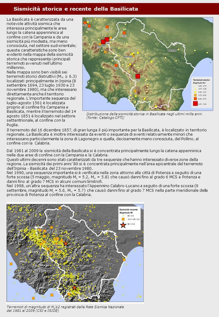 Sismicità storica e recente della Basilicata