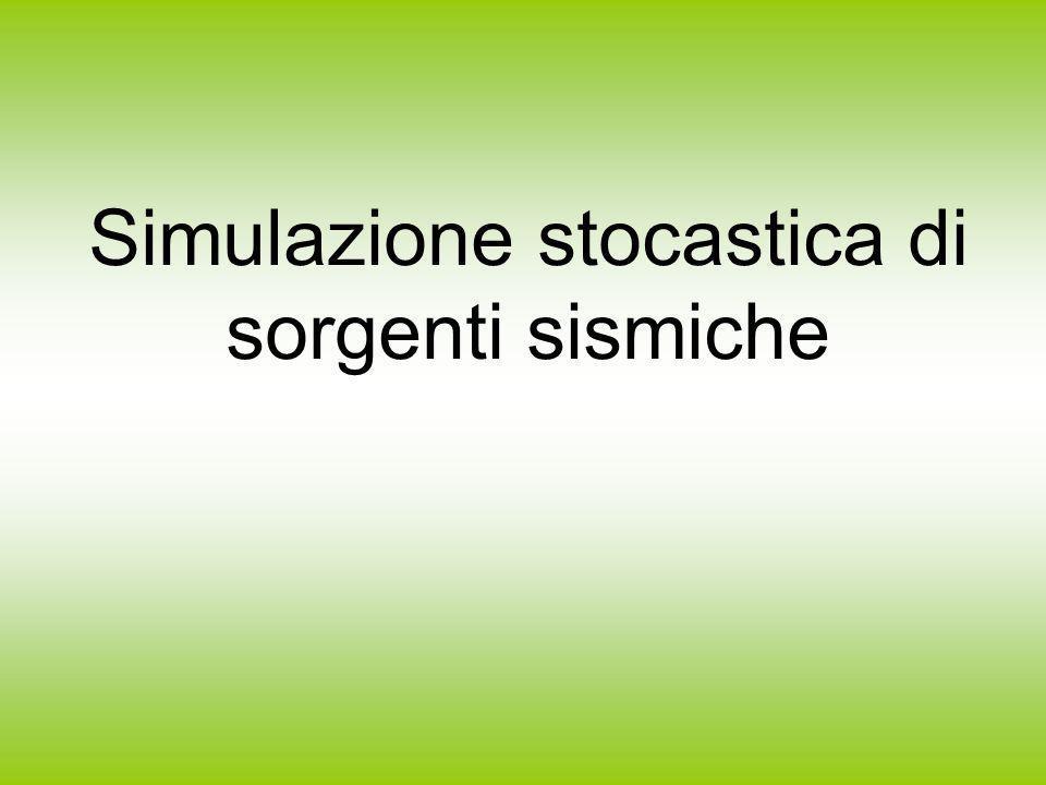 Simulazione stocastica di sorgenti sismiche