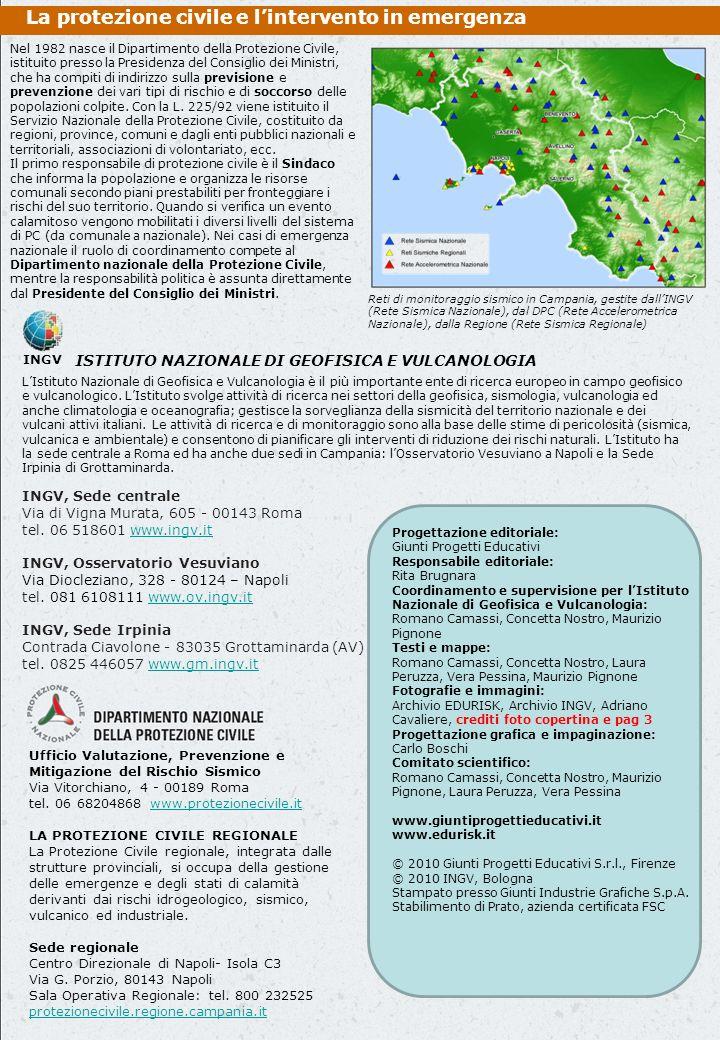 La protezione civile e l'intervento in emergenza