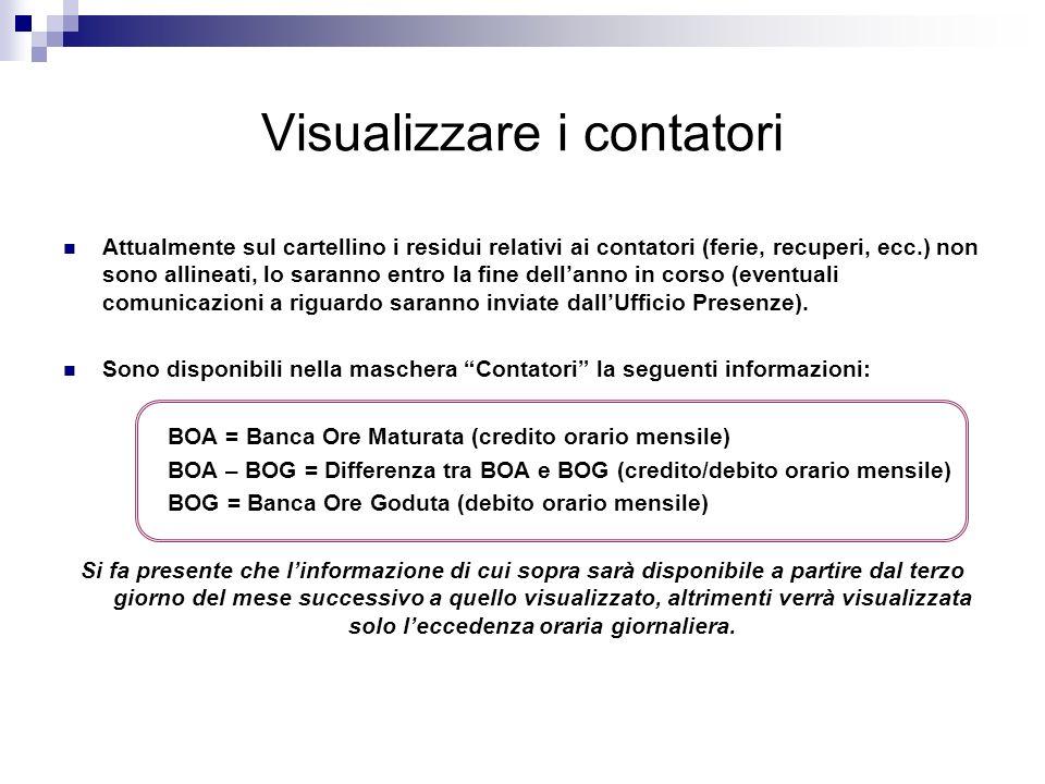 Visualizzare i contatori