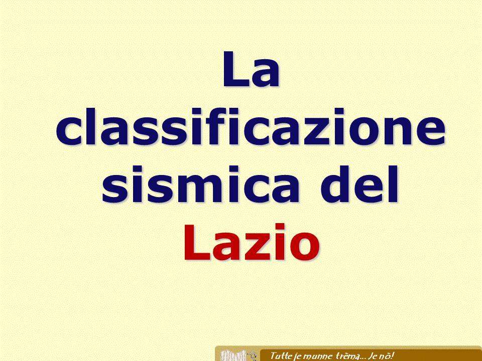 La classificazione sismica del Lazio
