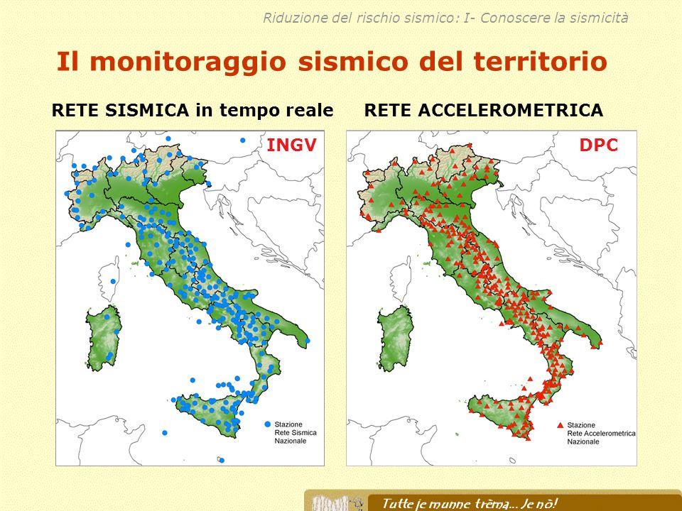 Il monitoraggio sismico del territorio RETE SISMICA in tempo reale