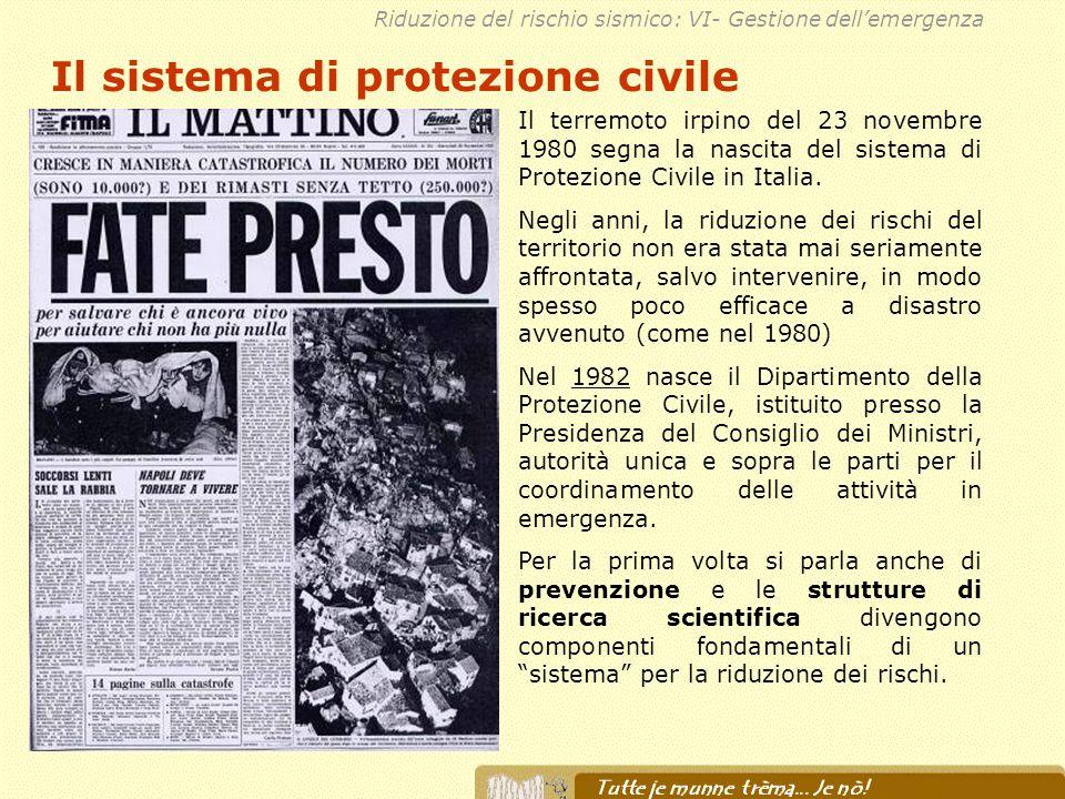 Il sistema di protezione civile