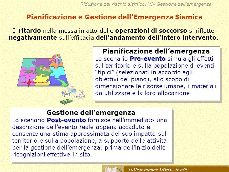 Pianificazione e Gestione dell'Emergenza Sismica