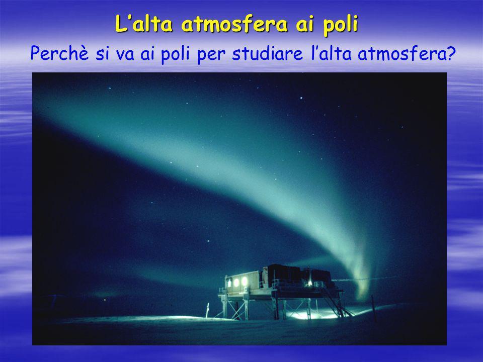 L'alta atmosfera ai poli