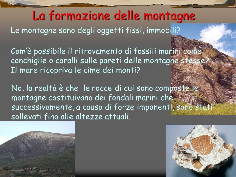 La formazione delle montagne