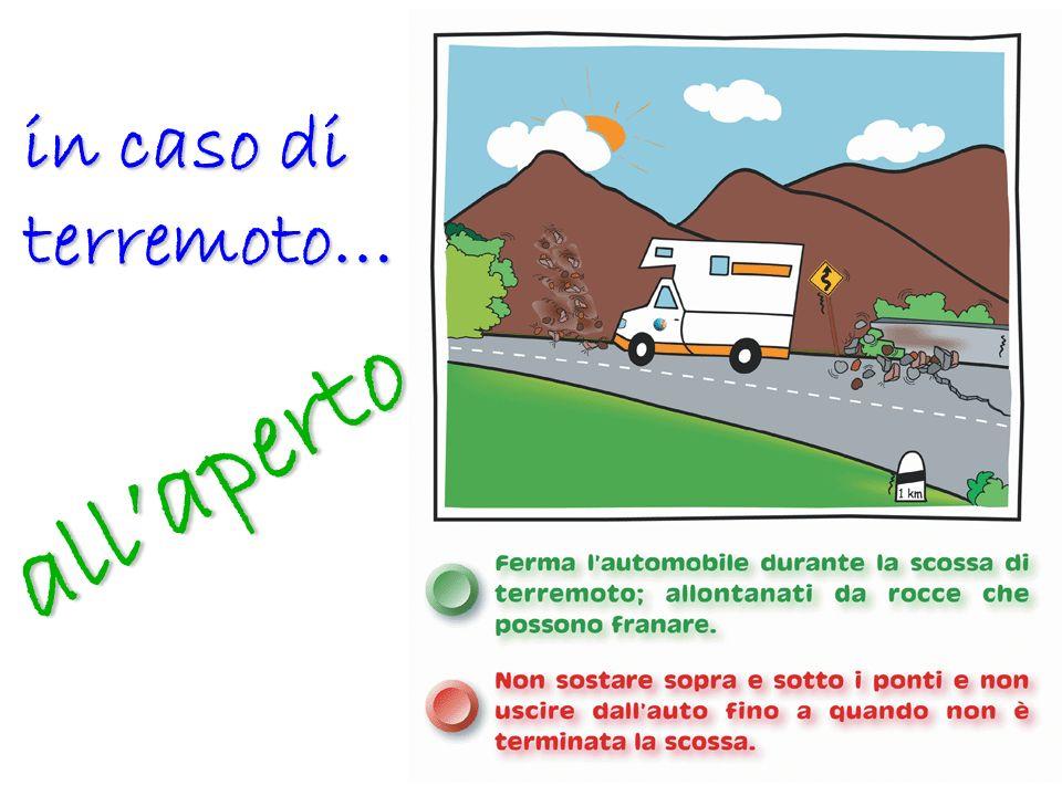 in caso di terremoto… all'aperto