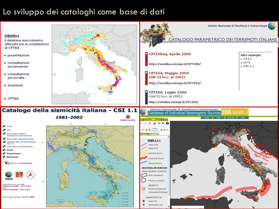 Lo sviluppo dei cataloghi come base di dati