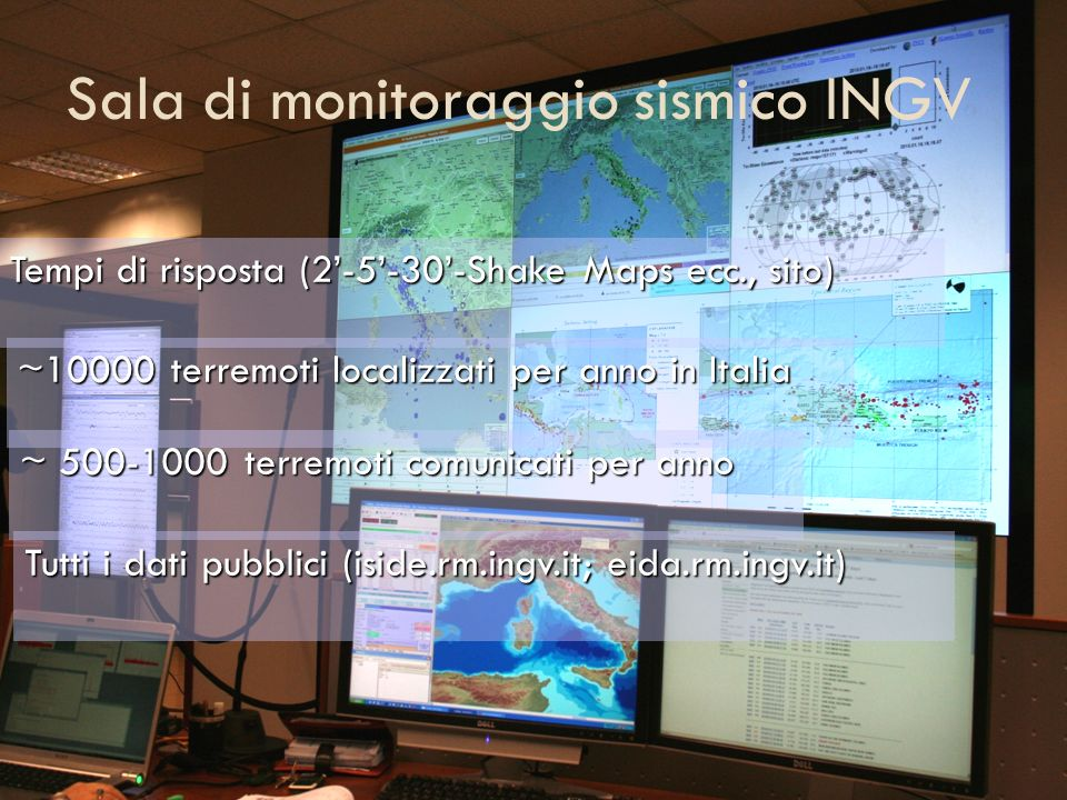 Sala di monitoraggio sismico INGV