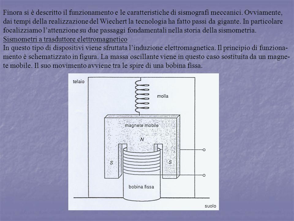 Finora si è descritto il funzionamento e le caratteristiche di sismografi meccanici. Ovviamente,