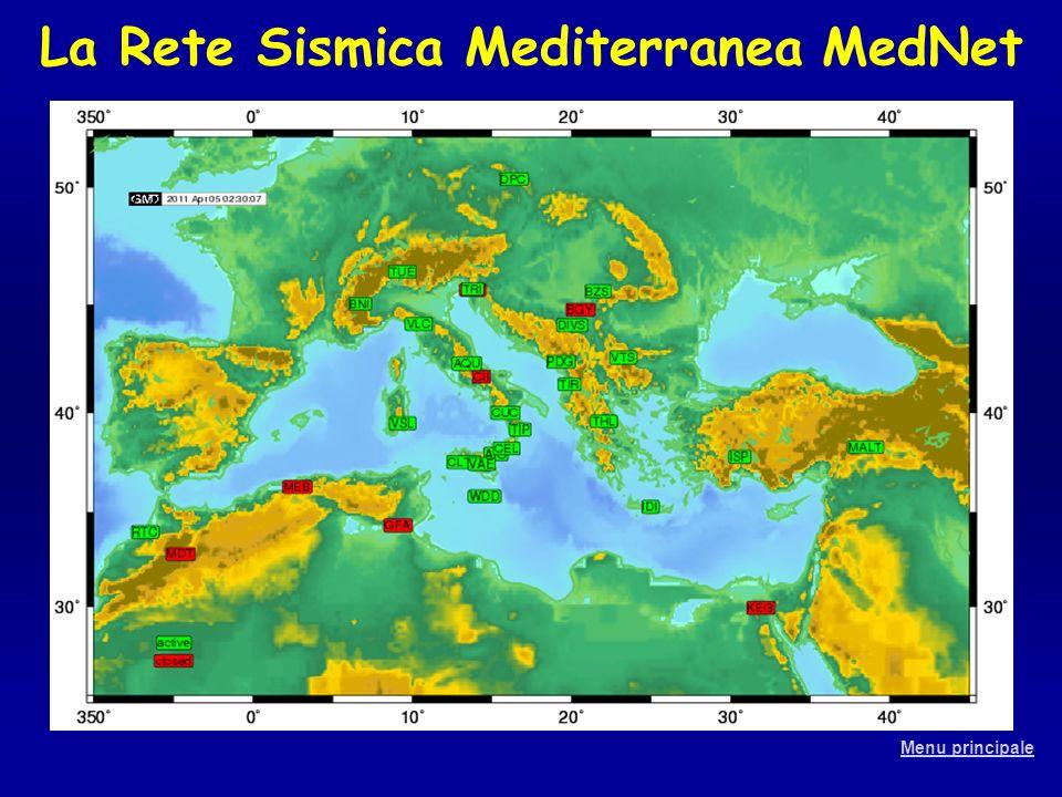 La Rete Sismica Mediterranea MedNet