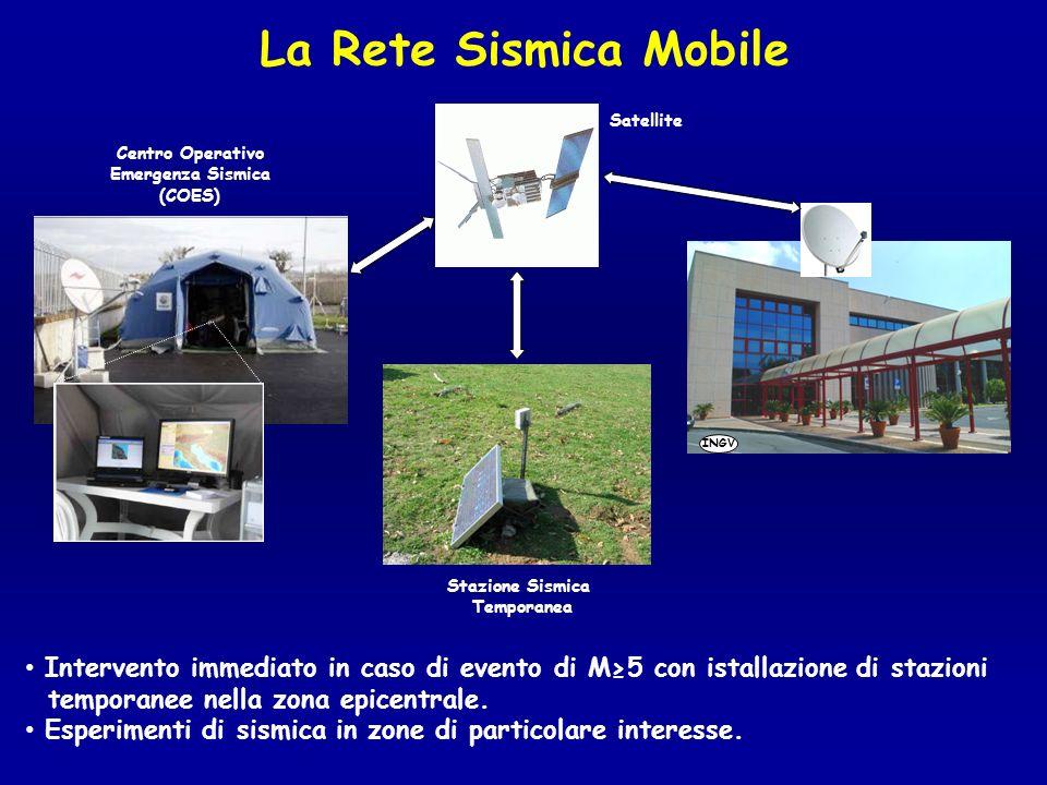 La Rete Sismica Mobile Satellite. Centro Operativo. Emergenza Sismica. (COES) INGV. Stazione Sismica.