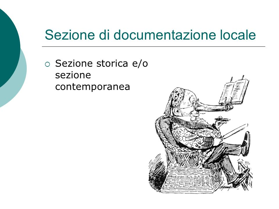 Sezione di documentazione locale