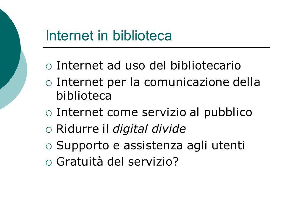 Internet in biblioteca
