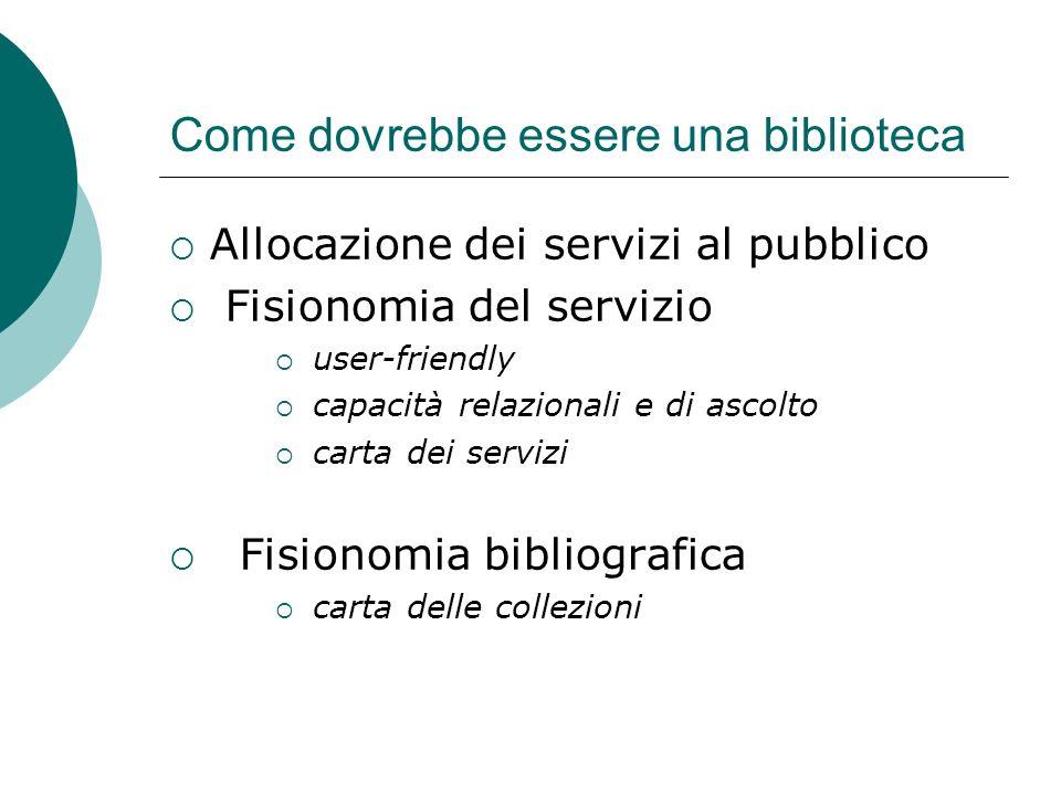 Come dovrebbe essere una biblioteca