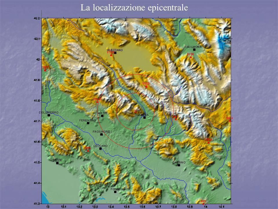La localizzazione epicentrale