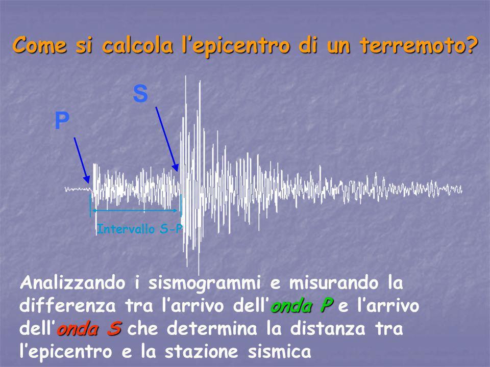 Come si calcola l'epicentro di un terremoto