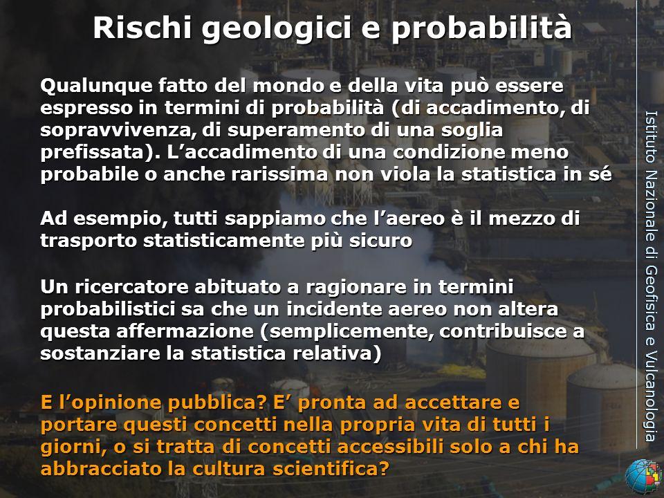 Rischi geologici e probabilità