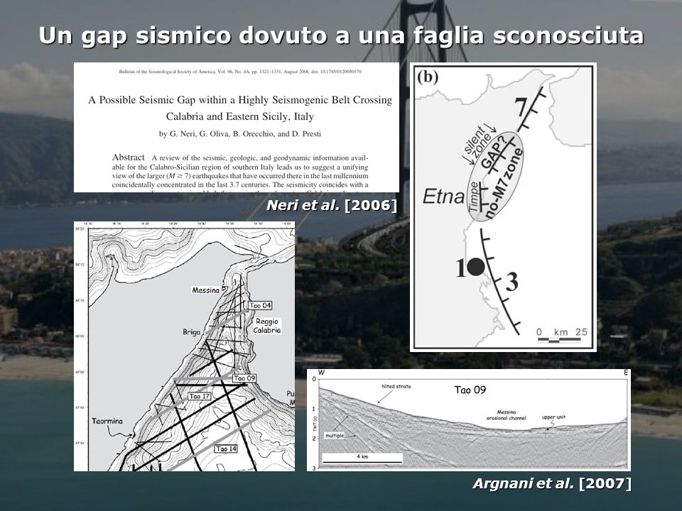 Un gap sismico dovuto a una faglia sconosciuta