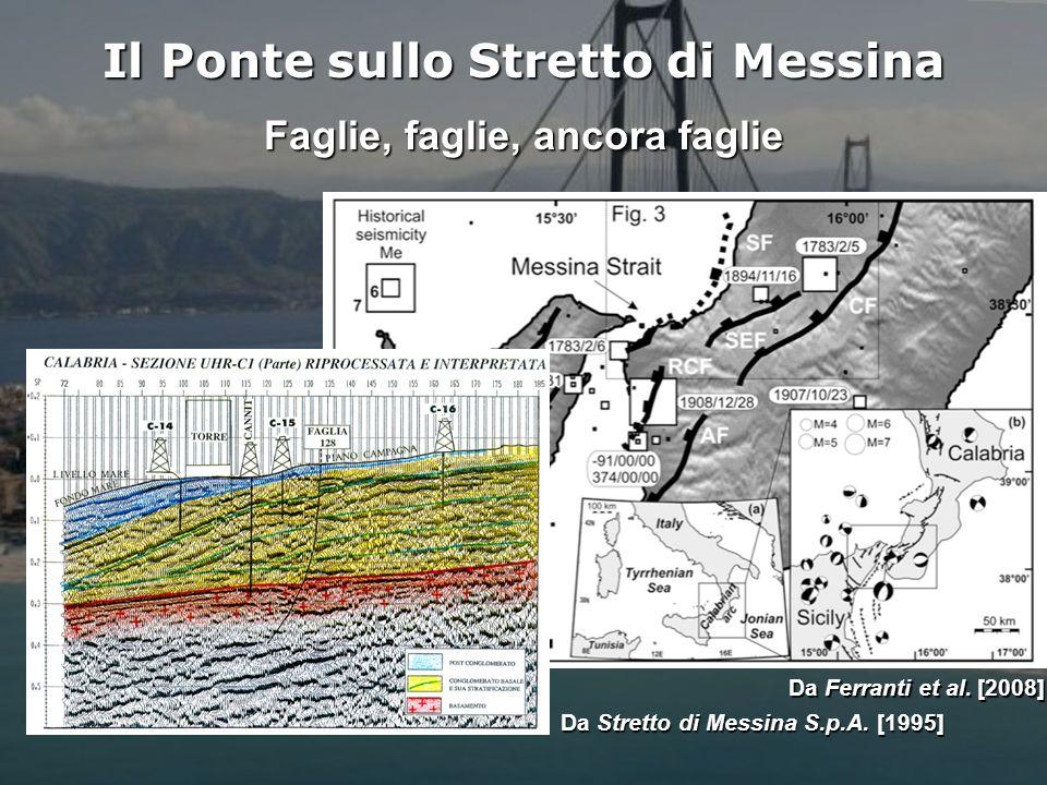 Il Ponte sullo Stretto di Messina Faglie, faglie, ancora faglie
