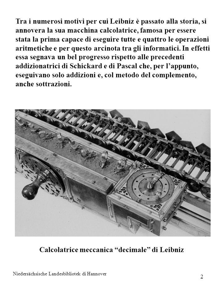 Calcolatrice meccanica decimale di Leibniz
