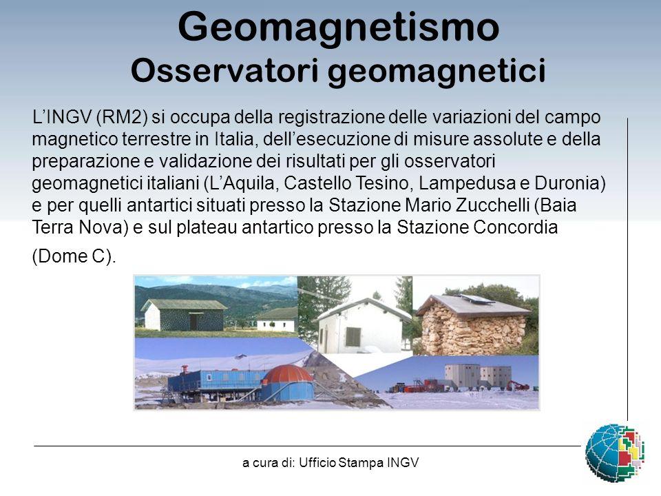Geomagnetismo Osservatori geomagnetici
