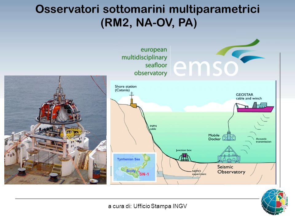 Osservatori sottomarini multiparametrici (RM2, NA-OV, PA)