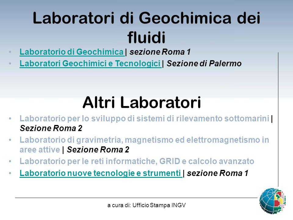 Laboratori di Geochimica dei fluidi