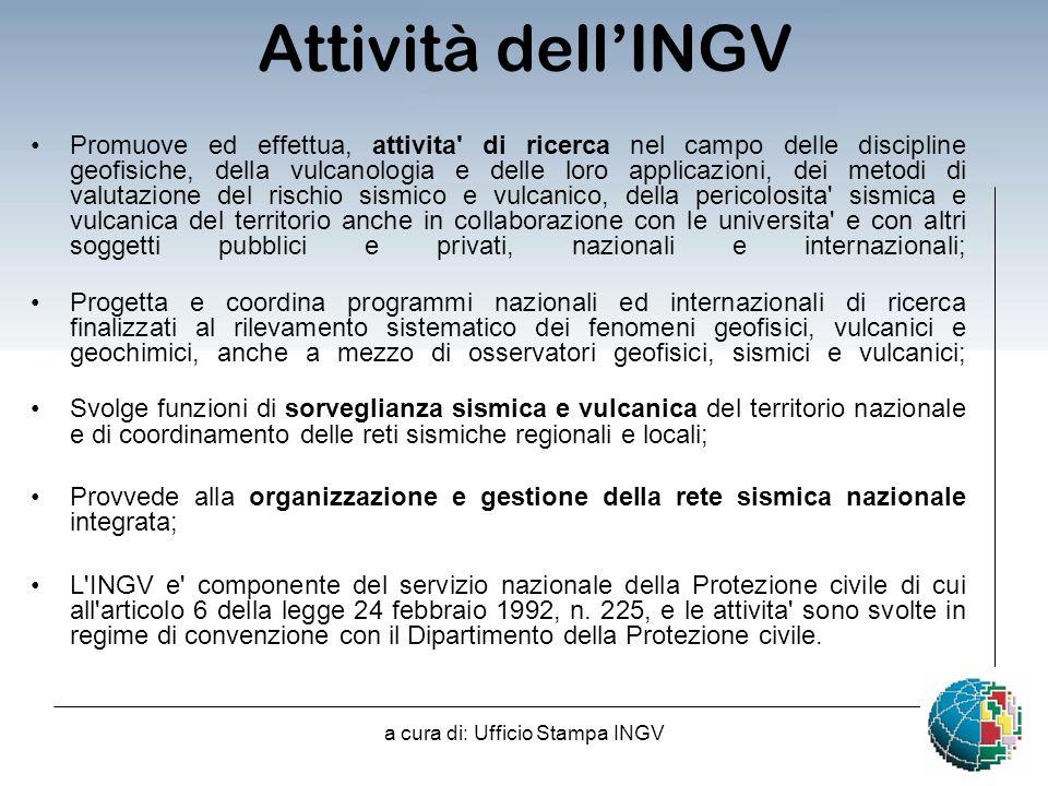 a cura di: Ufficio Stampa INGV