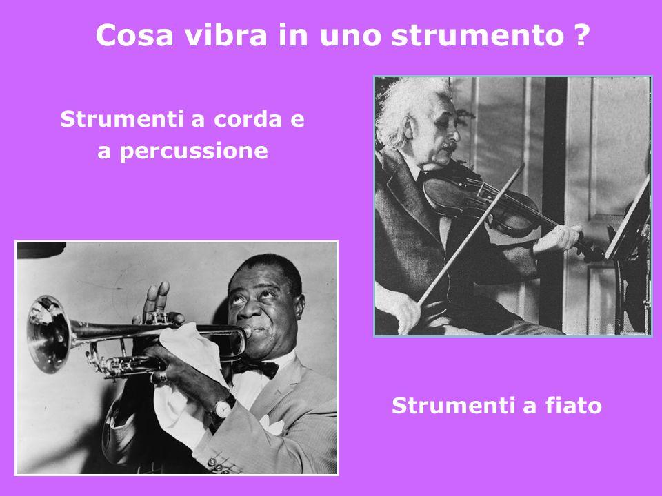 Cosa vibra in uno strumento