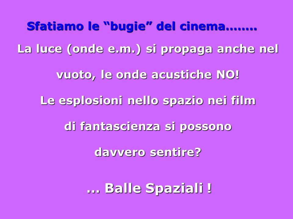 … Balle Spaziali ! Sfatiamo le bugie del cinema……..
