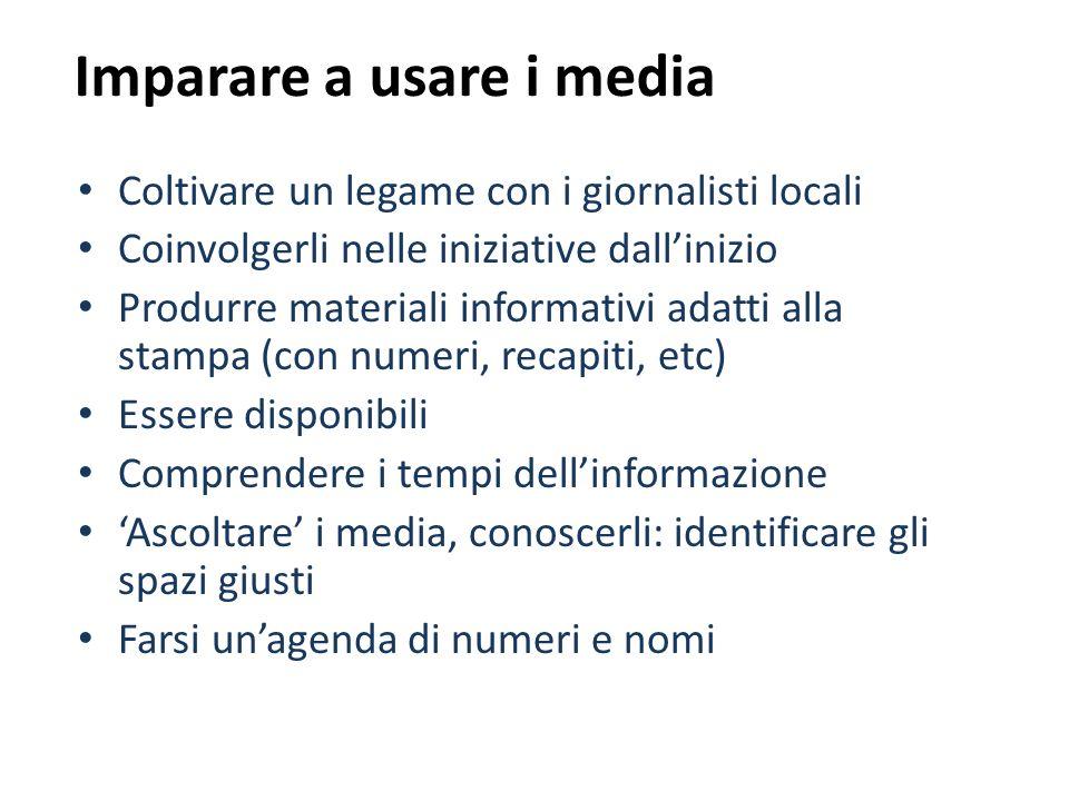 Imparare a usare i media