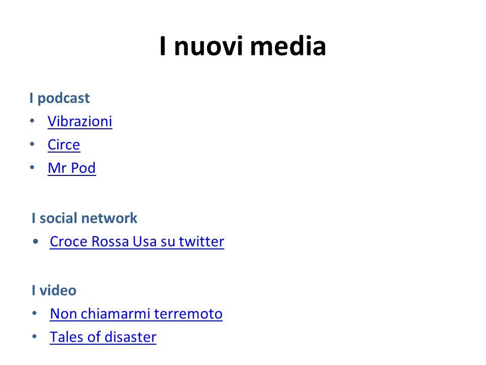 I nuovi media I podcast Vibrazioni Circe Mr Pod I social network