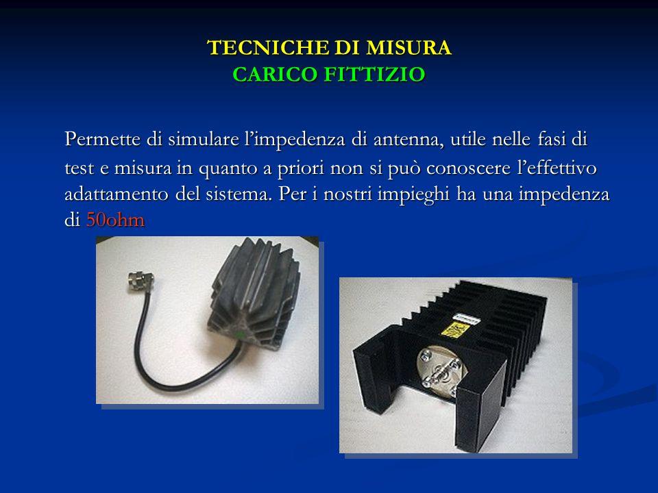 TECNICHE DI MISURA CARICO FITTIZIO