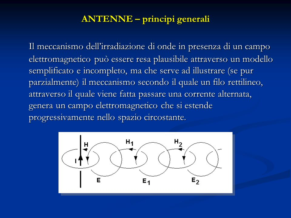 ANTENNE – principi generali