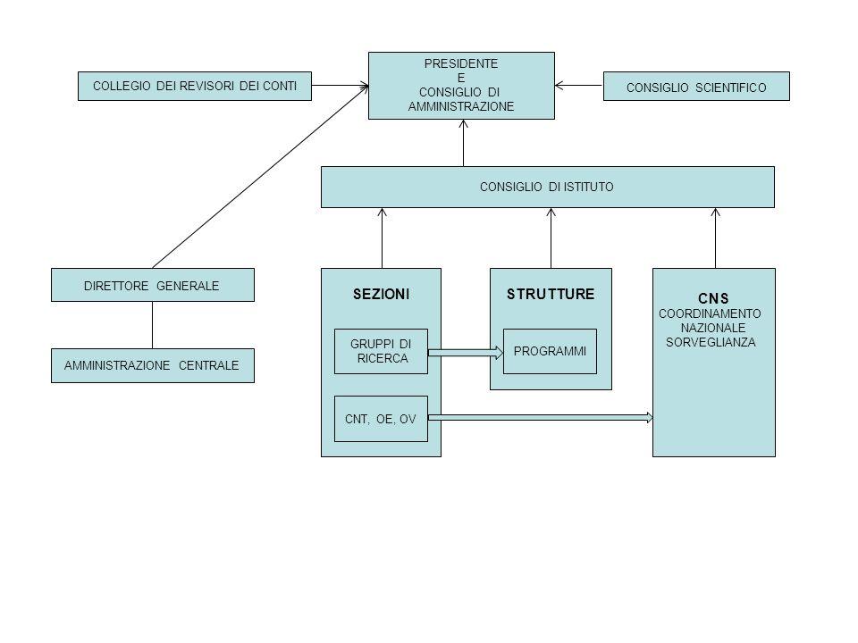 SEZIONI STRUTTURE CNS 2 PRESIDENTE E CONSIGLIO DI AMMINISTRAZIONE