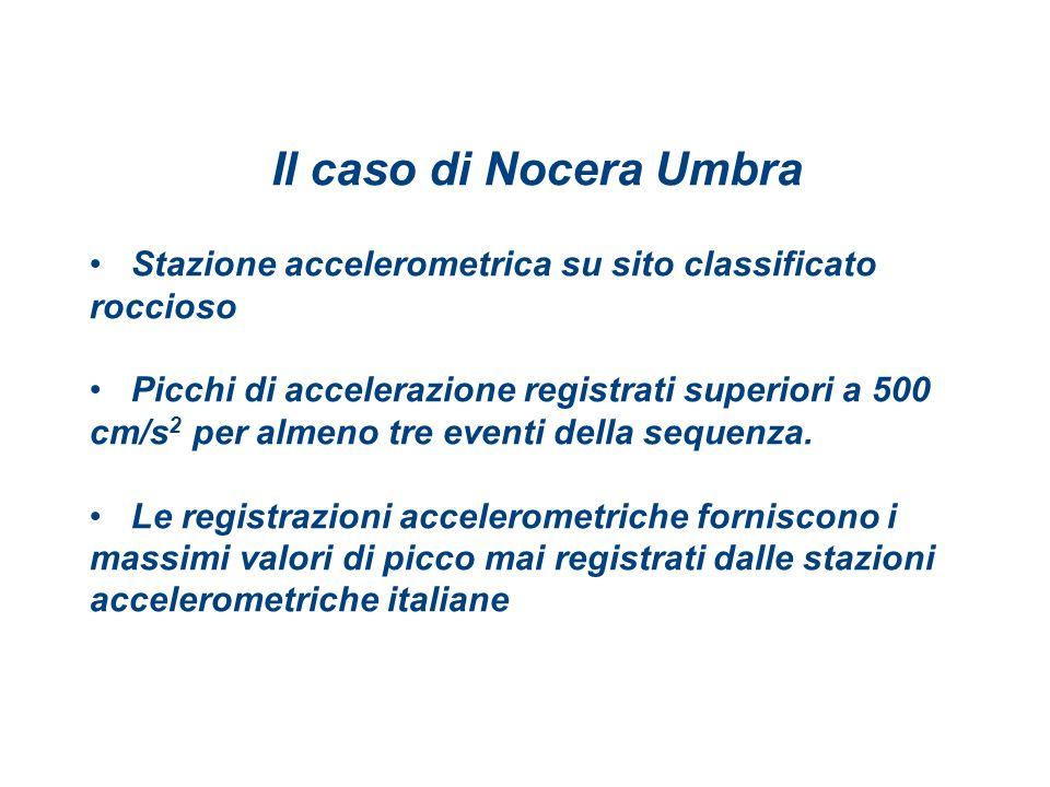 Il caso di Nocera Umbra Stazione accelerometrica su sito classificato roccioso.
