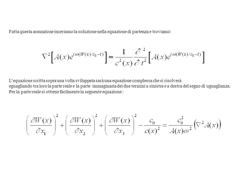 Fatta questa assunzione inseriamo la soluzione nella equazione di partenza e troviamo: