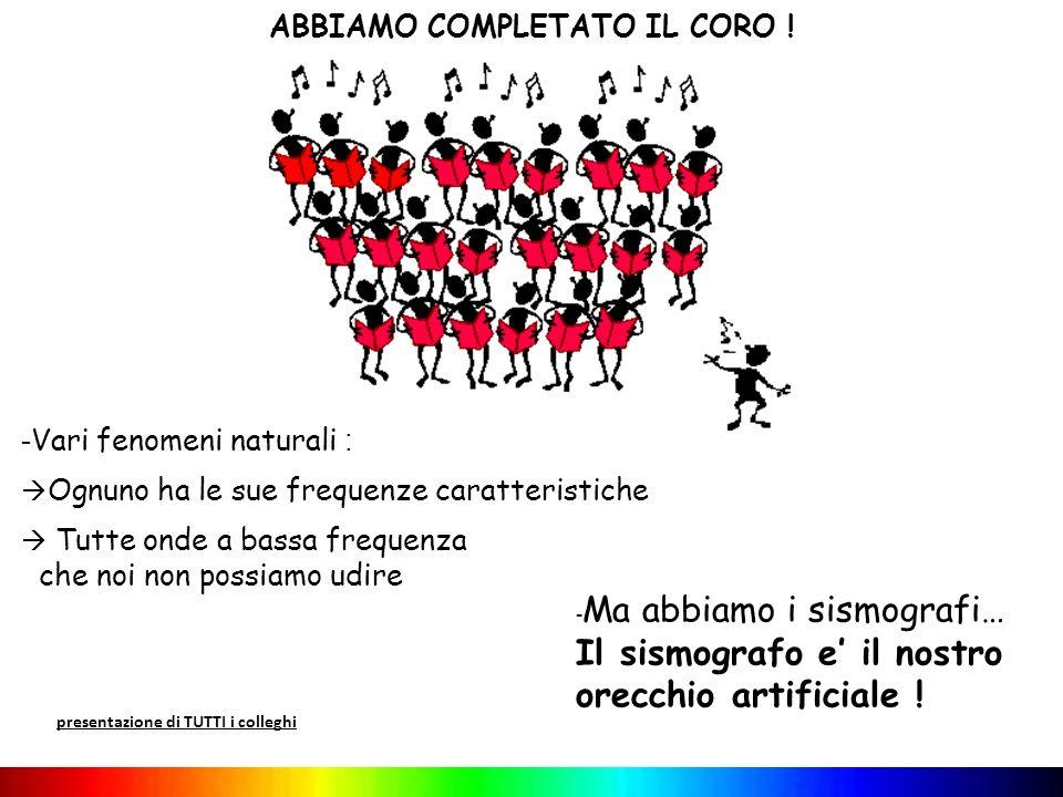 ABBIAMO COMPLETATO IL CORO !
