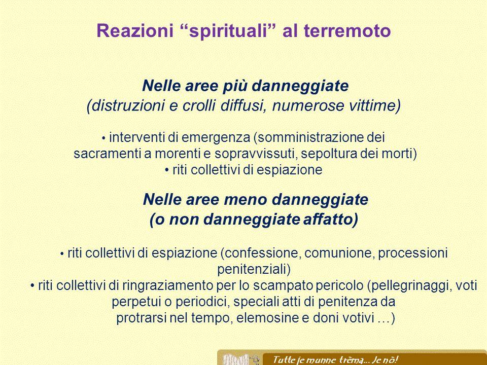 Reazioni spirituali al terremoto (o non danneggiate affatto)