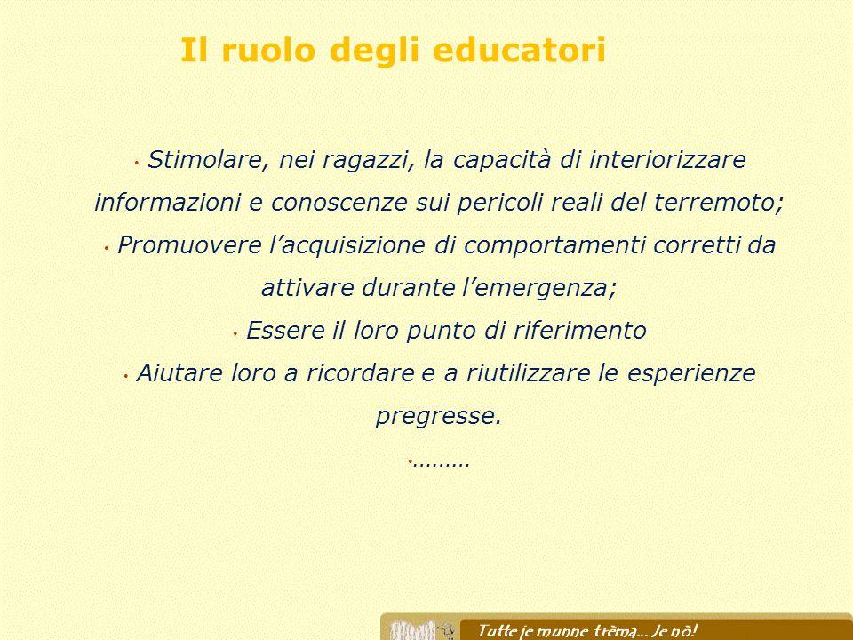 Il ruolo degli educatori