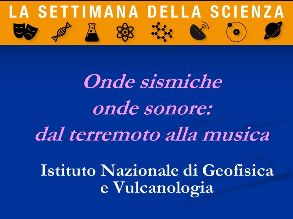 Onde sismiche onde sonore: dal terremoto alla musica