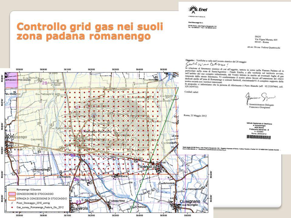 Controllo grid gas nei suoli zona padana romanengo