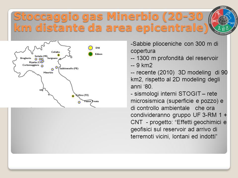 Stoccaggio gas Minerbio (20-30 km distante da area epicentrale)